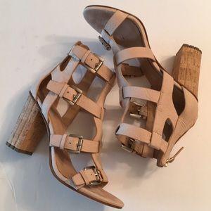 Belle Sigerson Morrison tan heels